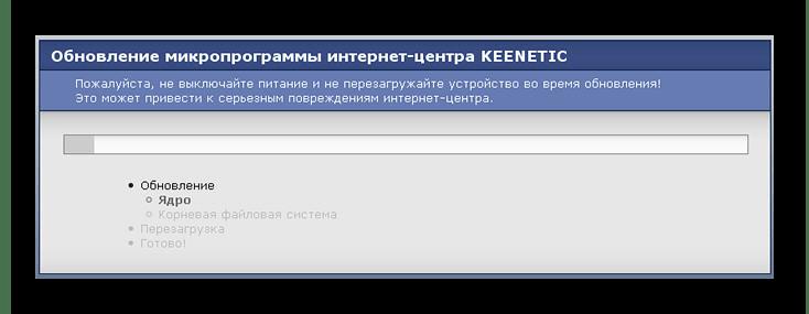 Процесс установки обновлений на Keenetic Lite
