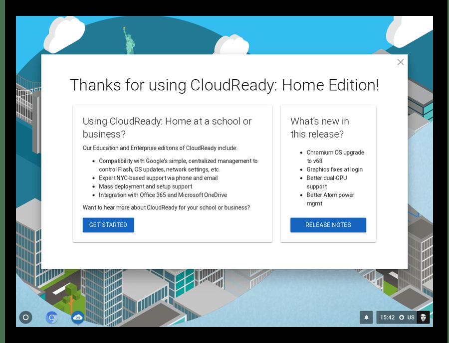 Рабочий стол операционной системы CloudReady