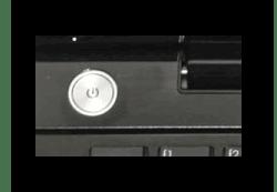 Осмотр кнопки на корпусе ноутбука