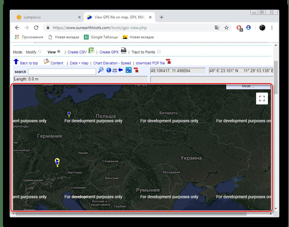Отображение карты на сайте SunEarthTools