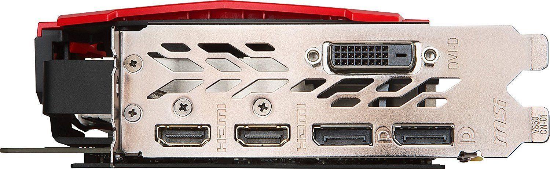 Пример наличия на видеокарте нескольких портов DisplayPort и HDMI для подключения второго экрана в Windows 10