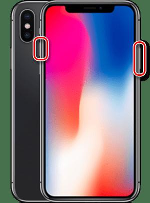 Принудительное выключение iPhone X