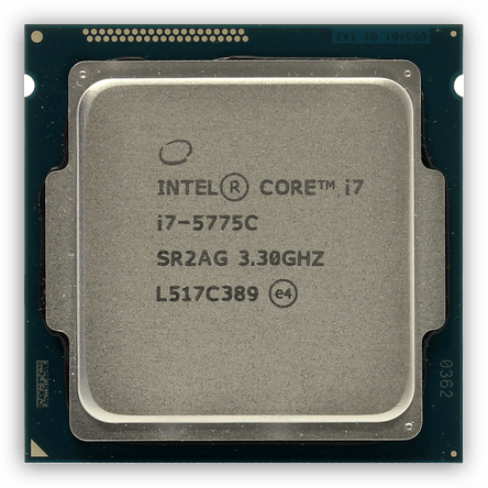 Процессор core i7-5775C на архитектуре Broadwell