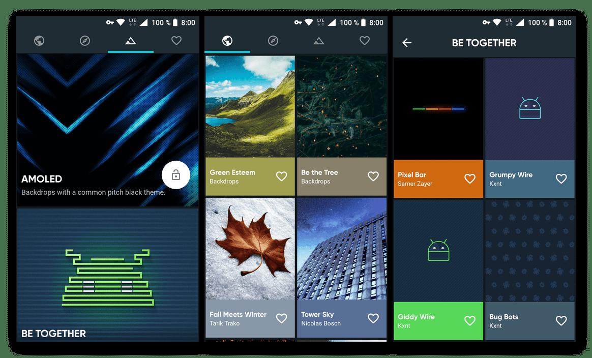 Скачать из Google Play Маркета Backdrops - Wallpapers - приложение для смартфона и планшета с Android