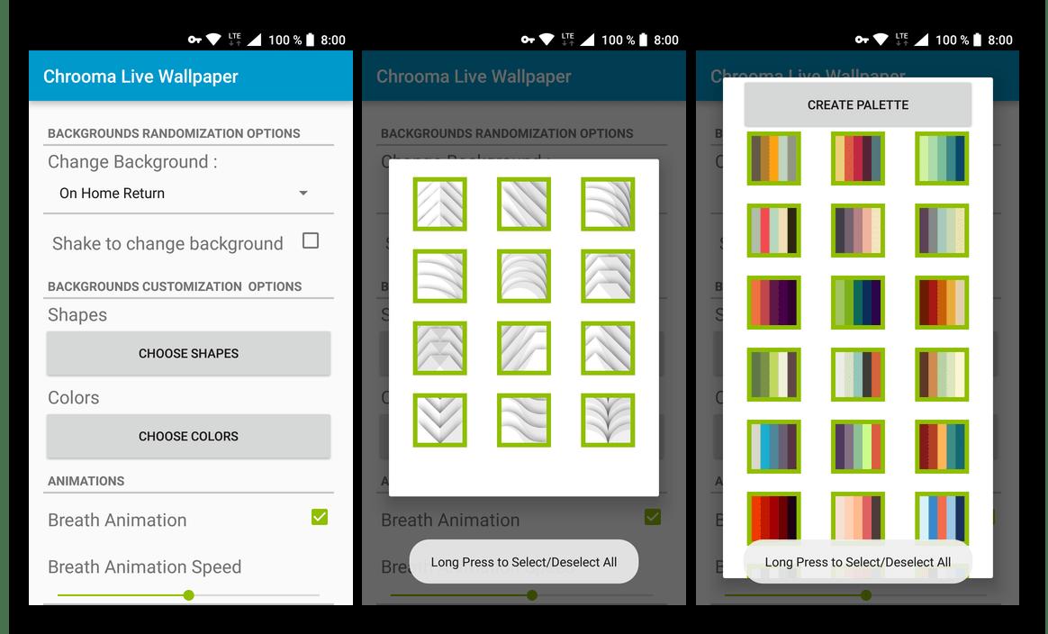 Скачать из Google Play Маркета Chrooma Live Wallpapers - приложение для смартфона и планшета с Android