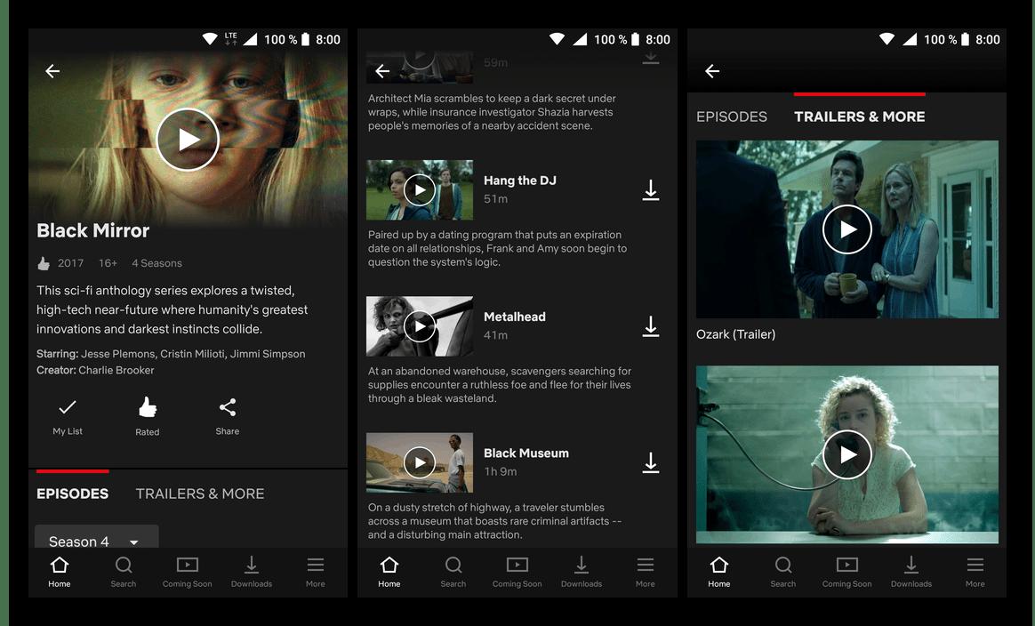Скачать приложение для просмотра сериалов Netflix из Google Play Маркета на Android