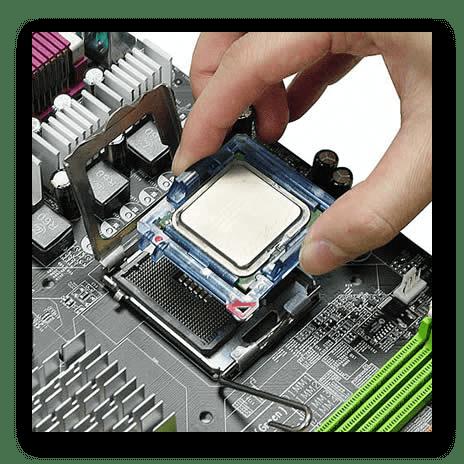 Снять процессор с материнской платы