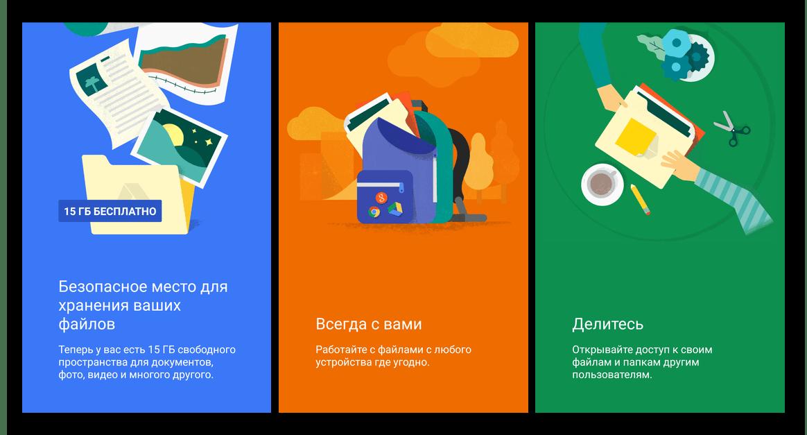 Базовые возможности приложения Google Диск для Android