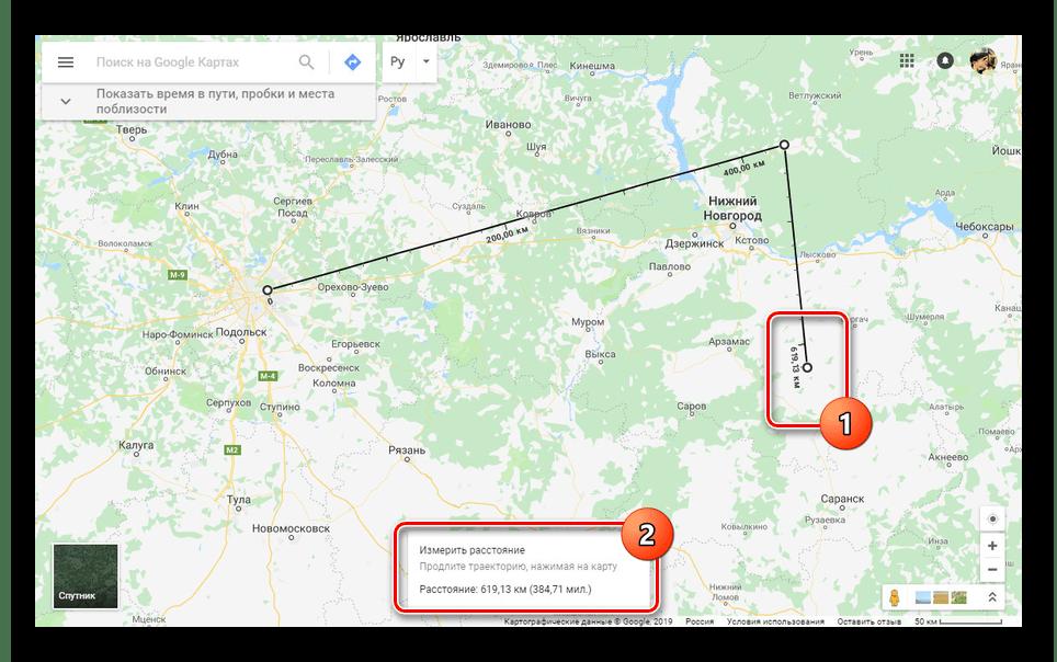 Добавление дополнительной точки на сайте Google Карты
