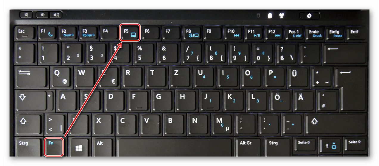 Горячие клавиши для включения и отключения тачпада ноутбука