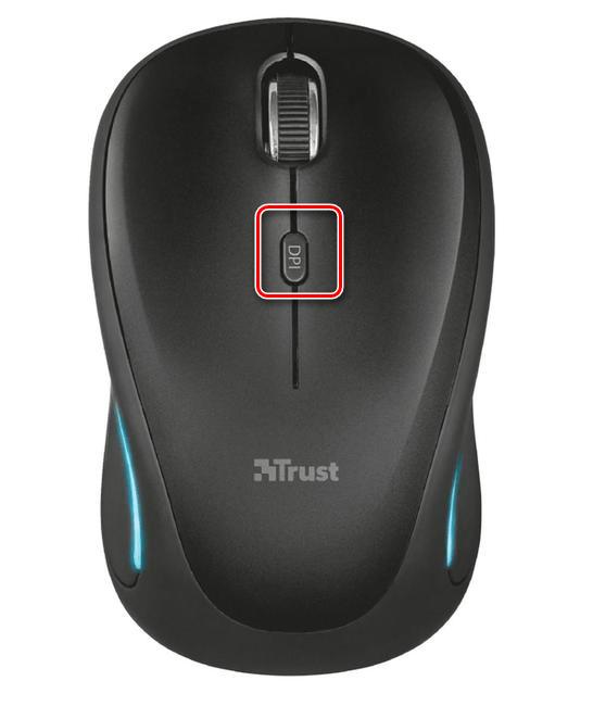 Кнопка переключения DPI на компьютерной мыши