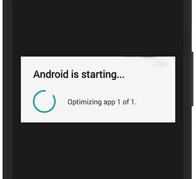 Устранение ошибки с постоянной оптимизацией приложений на Android при включении
