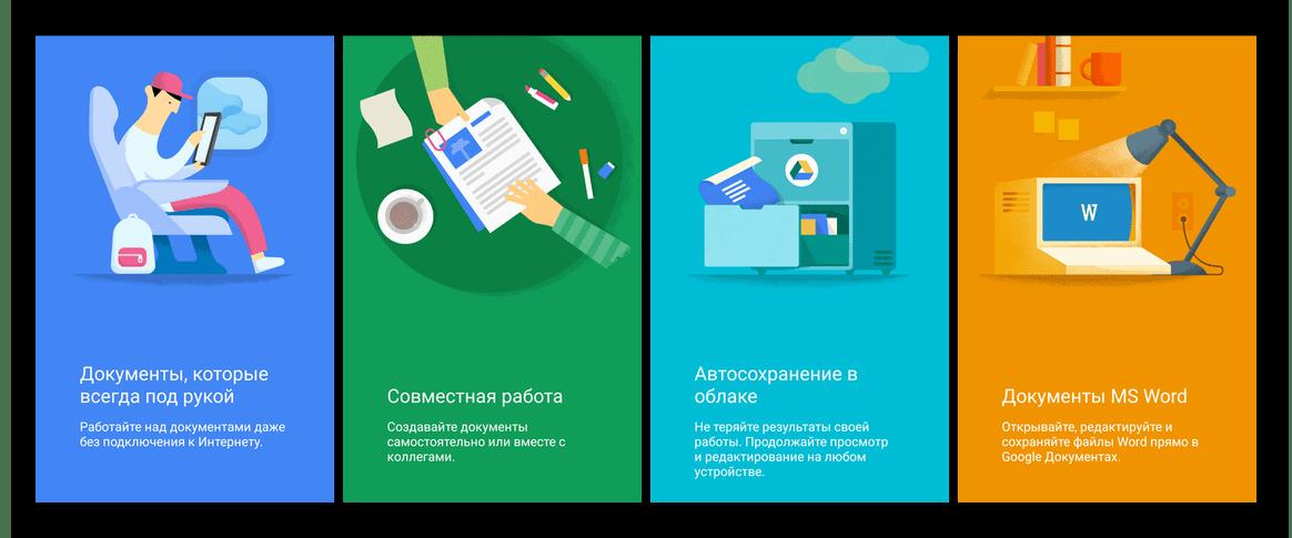 Основные возможности приложения Google Документы для Android