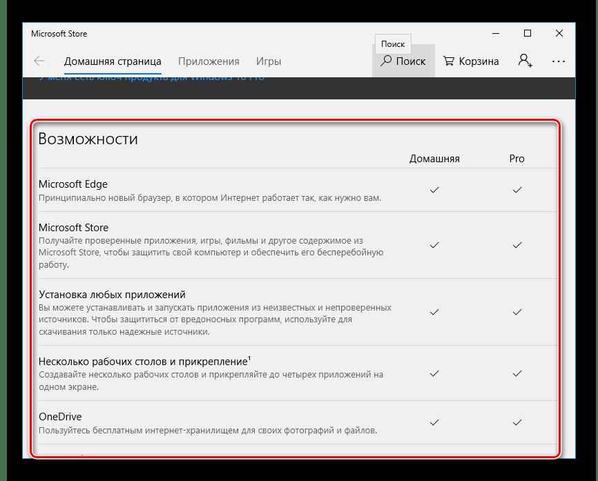Ознакомиться с различиями версий Windows 10