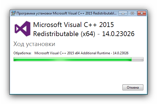 Переустановка пакета С++ для решения проблем с api-ms-win-crt-runtime-l1-1-0 dll