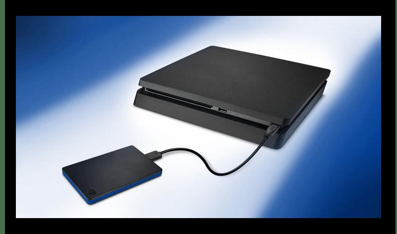 Подключение внешнего жесткого диска к игровой приставке PS4
