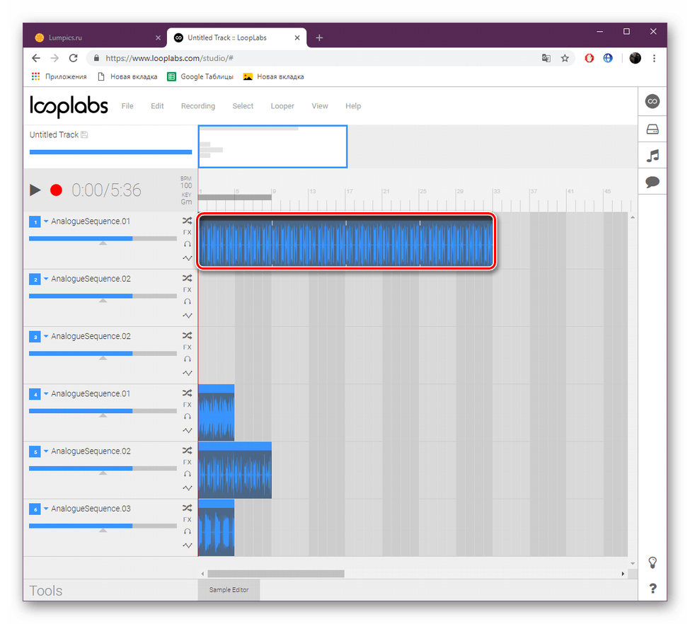 Работа с дорожкой на сайте LoopLabs