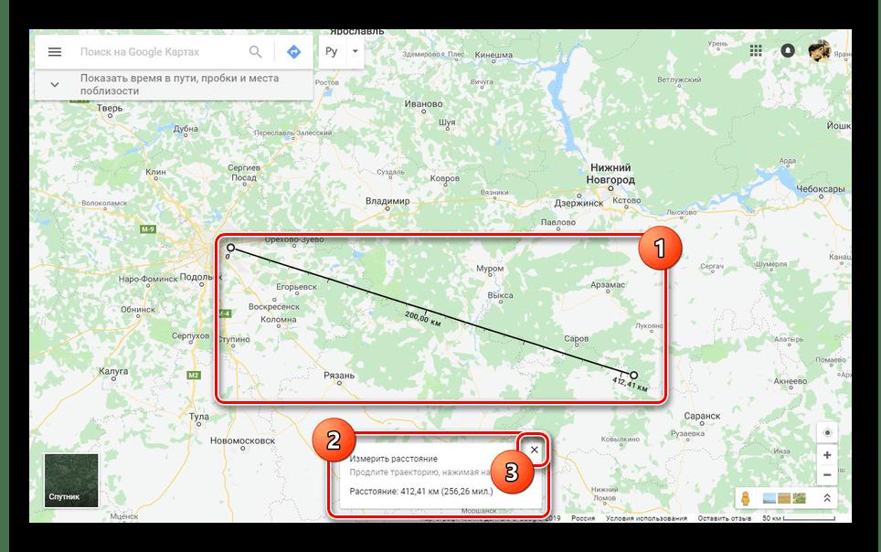 Удаление линейки на сайте Google Карты