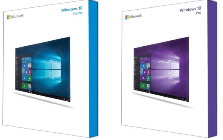 Версии Windows 10 Home и Pro