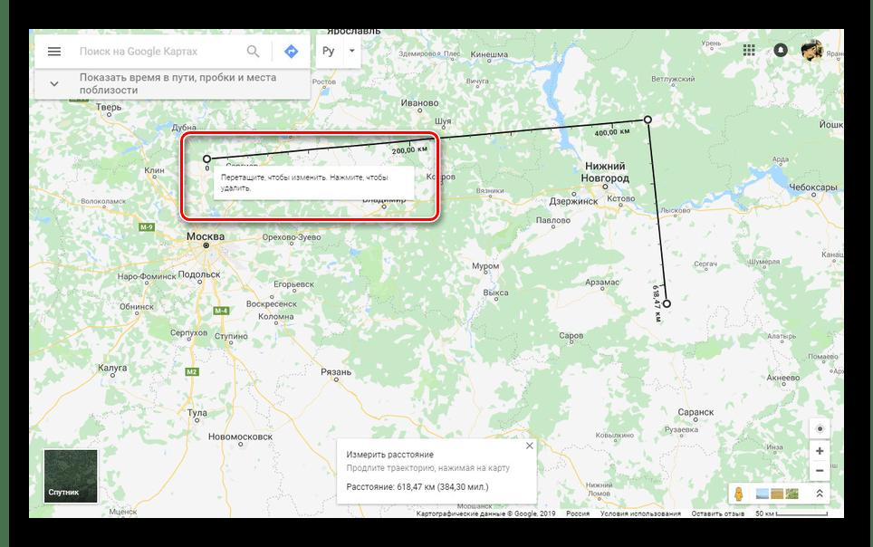 Возможность перетаскивания точек на сайте Google Карты