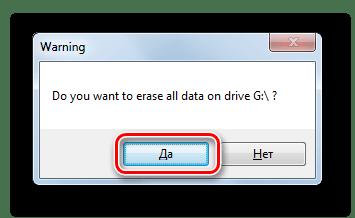 Запуск форматирования флешки в файловую систему FAT32 в диалоговом окне программы HP USB Disk Storage Format Tool