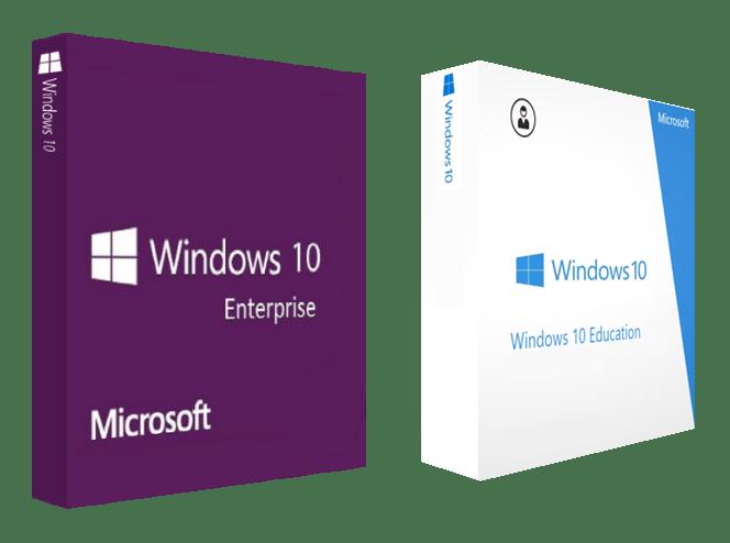 операционная система Windows 10 в версиях Enterprise и Education