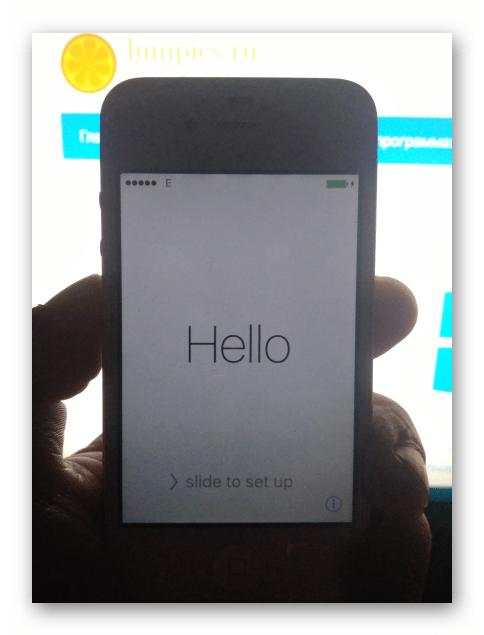 Apple iPhone 4S запуск iOS после прошивки аппарата через iTunes