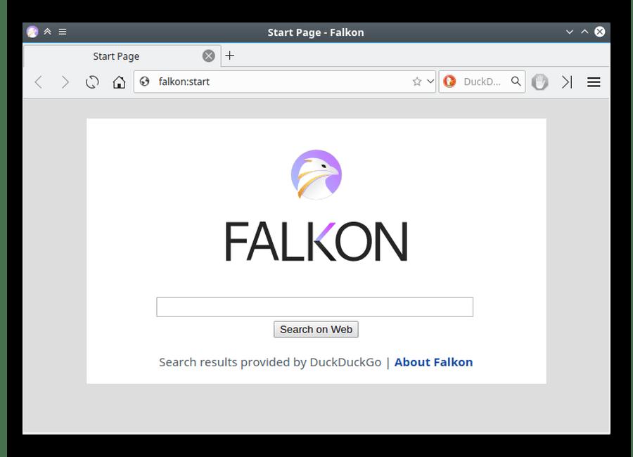 Браузер Falkon для Linux