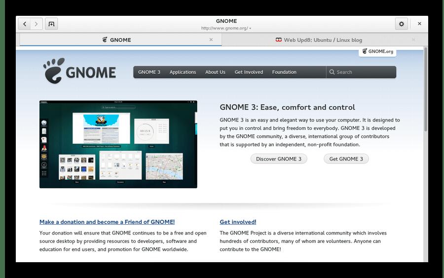 Браузер Gnome для Linux