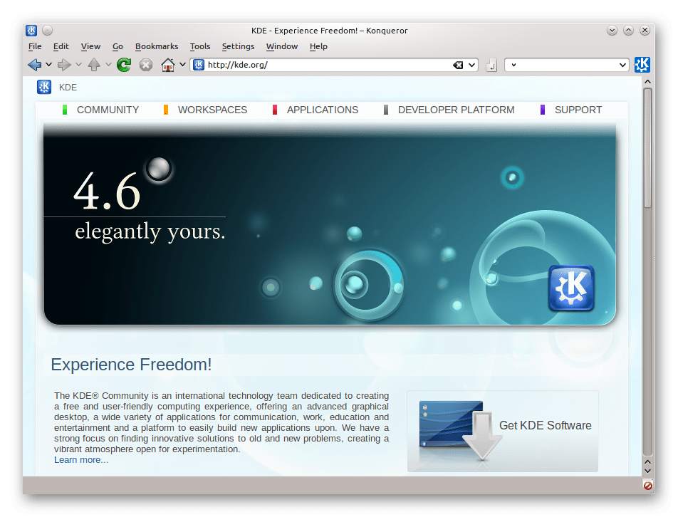 Браузер Konqueror для Linux