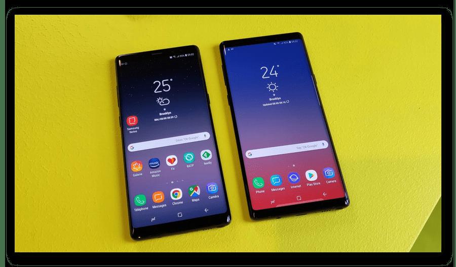 Дисплеи у Galaxy Note 9