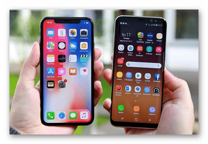 Дисплеи у смартфонов iPhone и Samsung и их сравнение