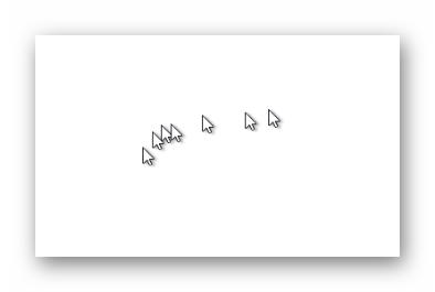 Эффект от применения следа для курсора мыши в Windows 10