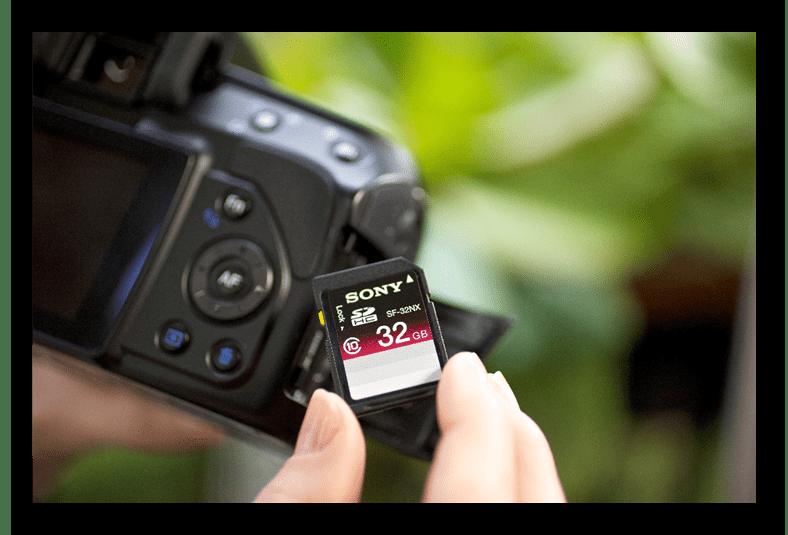 Фотоаппарат и карта памяти