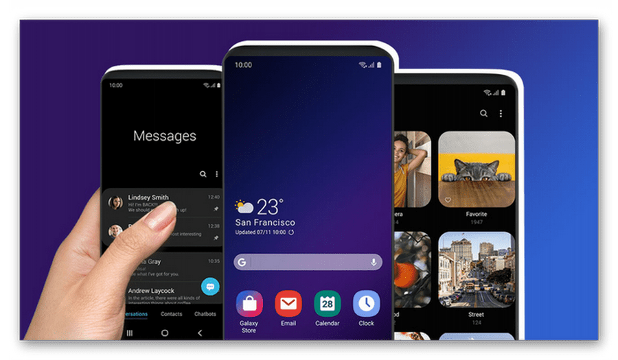 Интерфейс One UI на Samsung