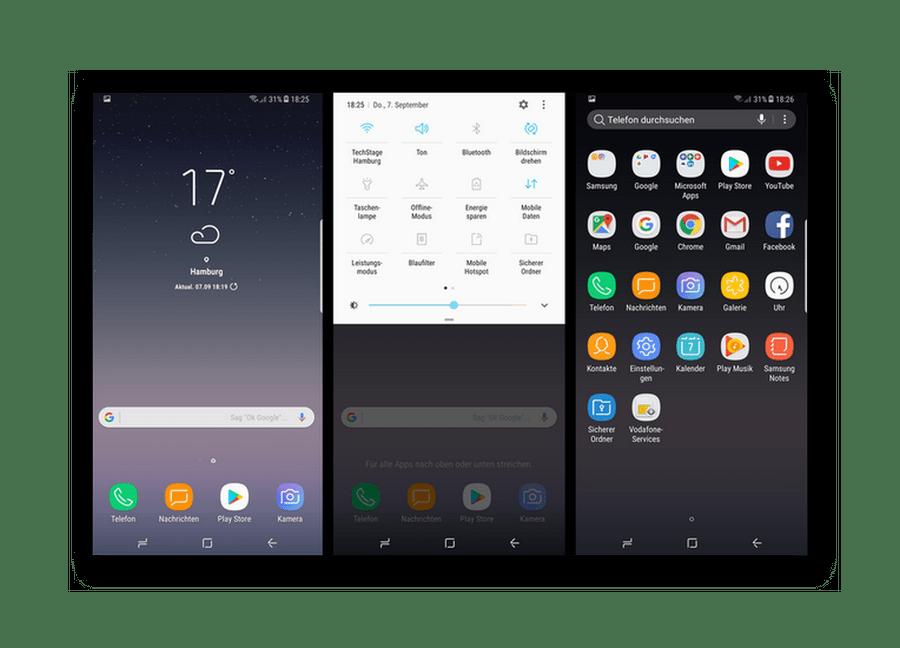 Интерфейс Samsung Galaxy на базе Android