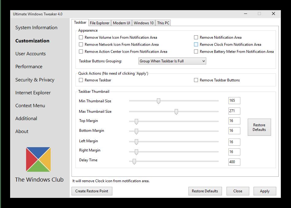Кастомизация внешнего вида Windows 10 с помощью стороннего приложения