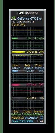 Просмотр температуры видеокарты с помощью GPU Monitor