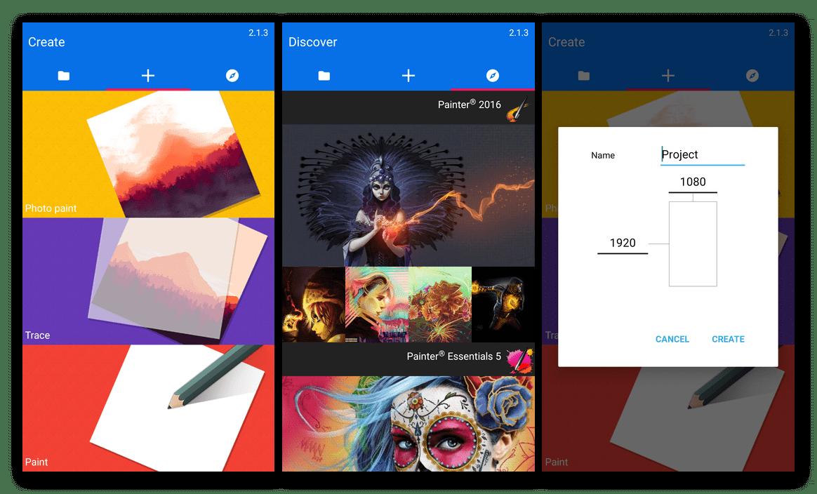 Создание рисунка в приложении Painter Mobile на Android