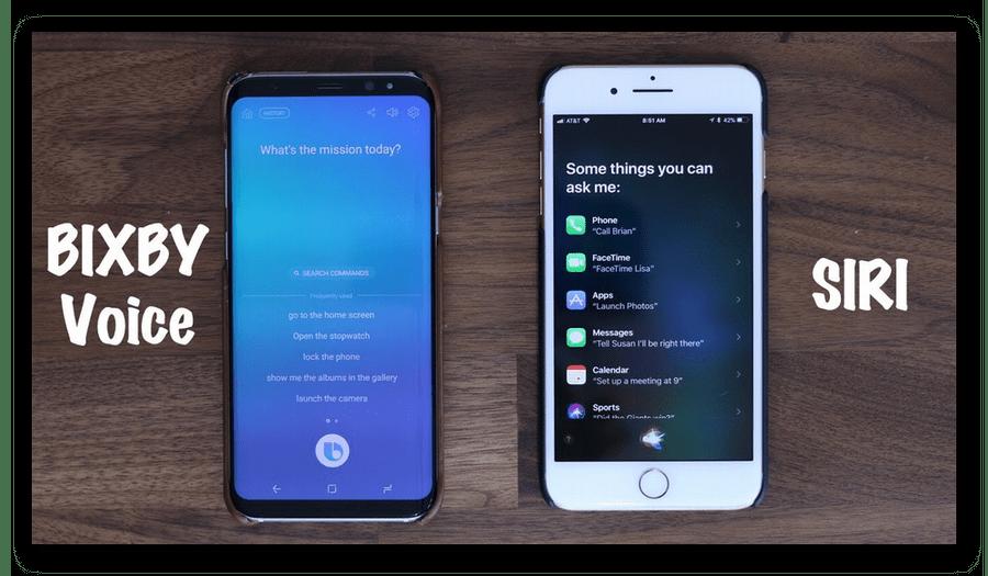 Сравнение двух голосовых помощников Bixby и Siri