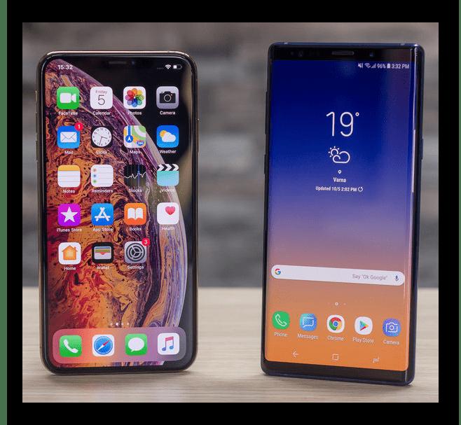 Внешний вид iPhone XS и Samsung Galaxy S9