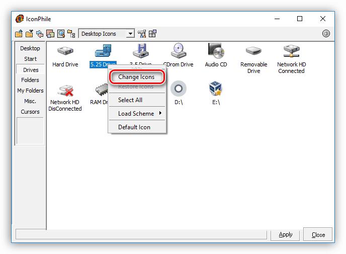 Vyibor-e`lementa-dlya-izmeneniya-ikonki-v-programme-IconPhile