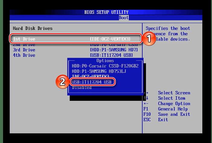 Выставить загрузку с флешки в BIOS компьютера на Windows 10