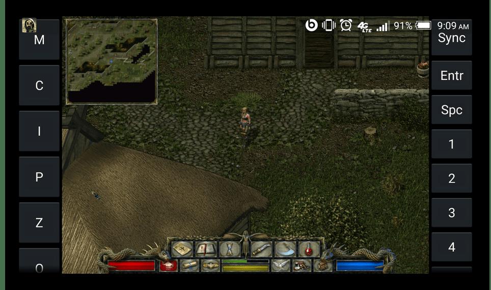 Использование ExaGear Strategies RPG на Android