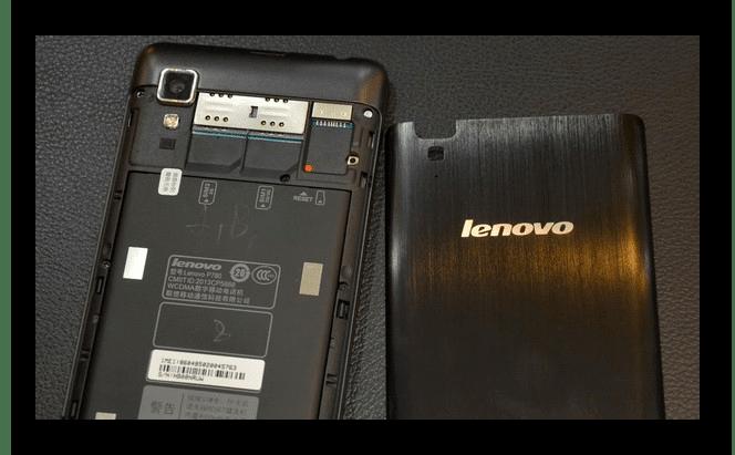 Извлечение батареи из смартфона Lenovo P780