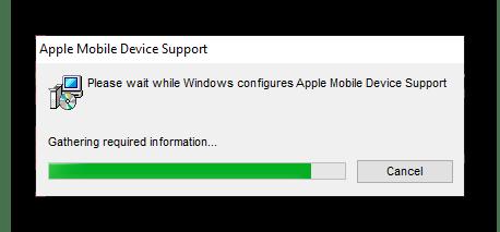 Подтверждение удаления одной программы Apple в параметрах Windows 10