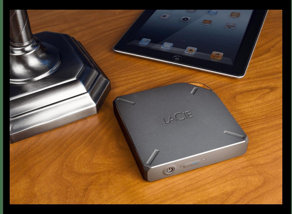 Пример внешнего накопителя с Wi-Fi для увеличения памяти на iPhone
