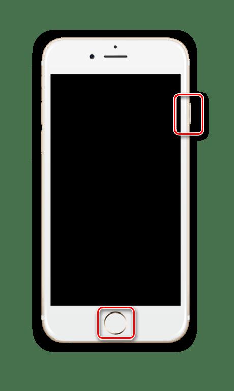 Принудительная перезагрузка iPhone 6 и более младшей модели