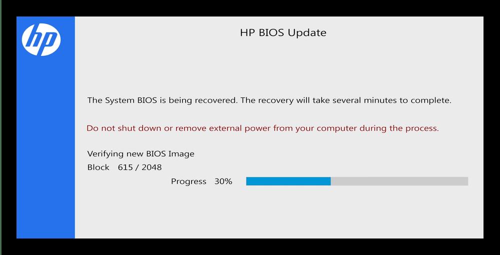 Процесс отката BIOS на ноутбуках HP