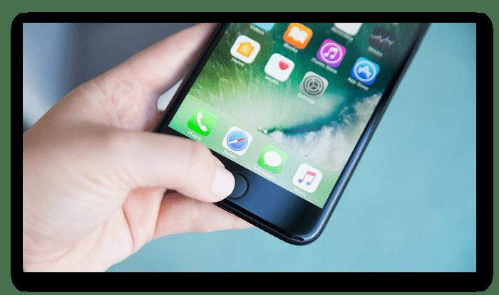 Проверка работоспособности сканера отпечатка пальца на iPhone при покупке с рук